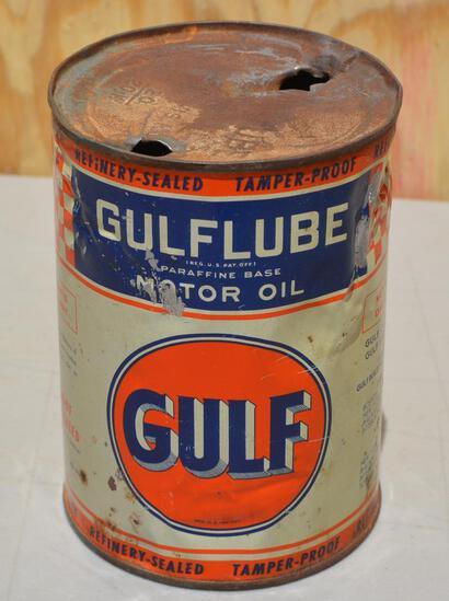Gulf Motor Oil Quart Metal Can