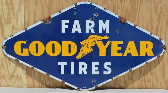 Goodyear Farm Tires Porcelain Sign