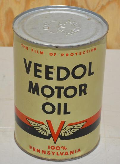 Veedol Motor Oil Quart Metal Can