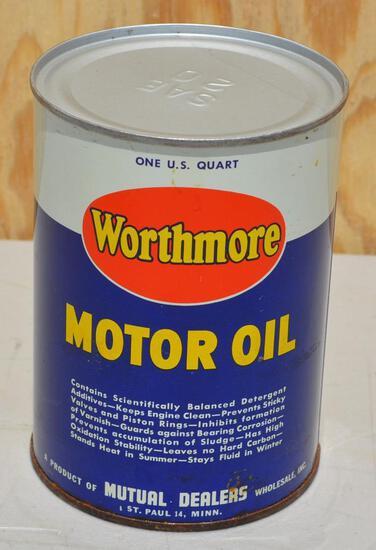 Worthmore Motor Oil Quart Metal Can