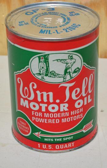 Wm. Tell Motor Oil Quart Composite Can