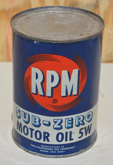 RPM Sub-Zero Motor Oil Quart Metal Can