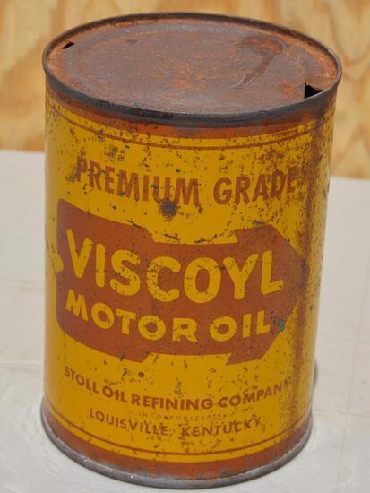 Stoll Viscoyl Motor Oil Quart Metal Can