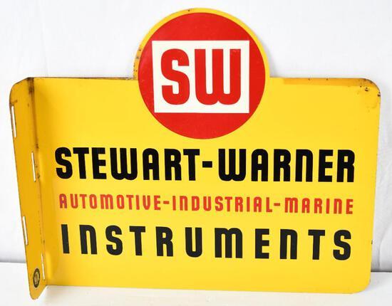 Stewart-Warner Instruments Auto-Industrial-Marine Metal Flange Sign (TAC)
