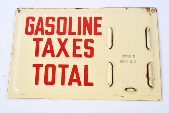 Gilmore Gasoline Pricer Porcelain Sign (TAC)