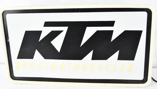 KTM Sport Motorcycles Plastic Lighted Sign