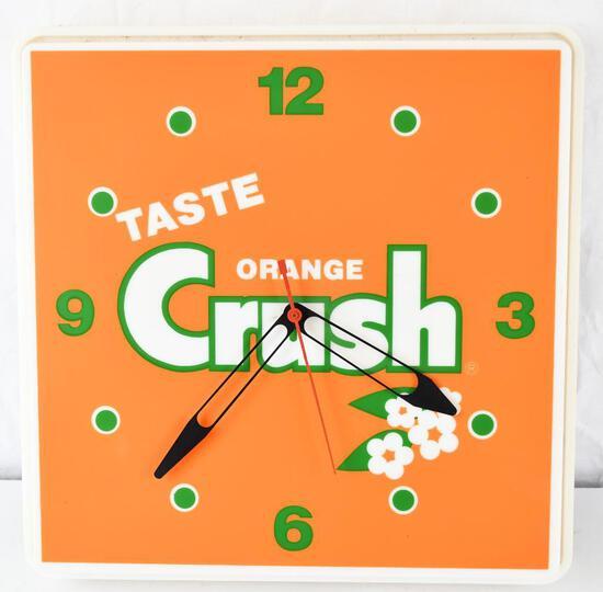 Taste Orange Crush Plastic Lighted Clock