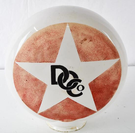 Hard to find (Derby Oil Co.) DOCo OPE Milk Glass Globe