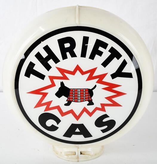 "Thrifty Gas w/scotty dog log 13.5"" Single Globe Lens (TAC)"