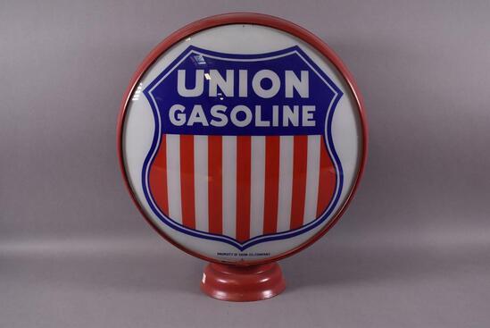 "UNION GASOLINE W/ SHIELD LOGO 15"" GLOBE LENSES"