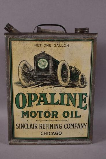 Sinclair Opaline Motor Oil w/ Early Race Car Can