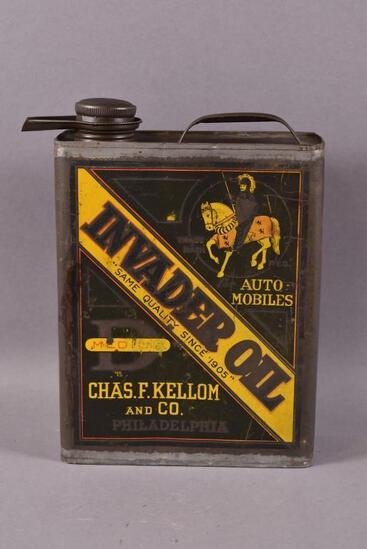"""Invader Oil """"D"""" Automobiles One Gallon Can"""