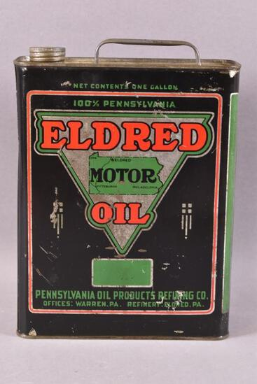 Eldred Motor OIl w/Logo One Gallon Can