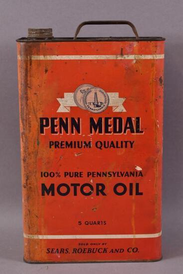 Penn Metal Motor Oil Five Quart Can