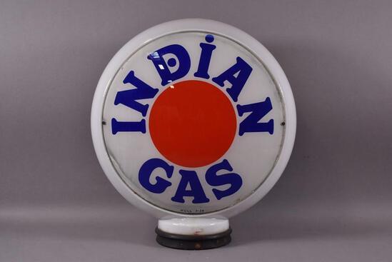 "Indian Gas w/ Red Dot Logo 13.5"" Globe Lenses"