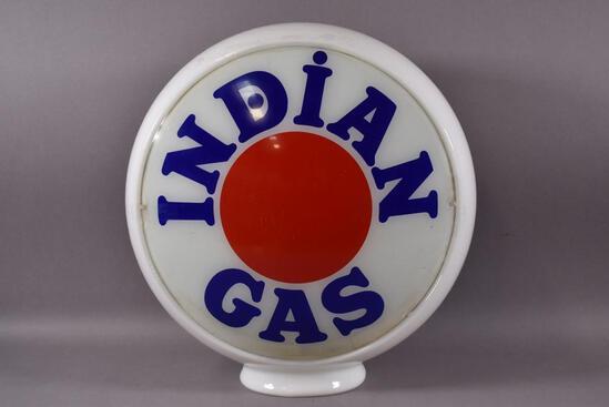 "Indian Gas w/Red Dot Logo 13.5"" Single Globe Lens"