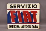 Fiat Servizio Metal Sign