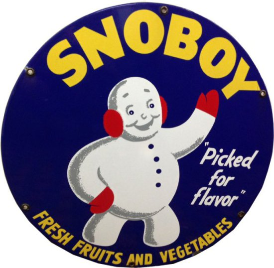 "Snoboy Fresh Fruits and Vegetables, ""Picked for flavor"", rated 9, 20 inches in diameter,"