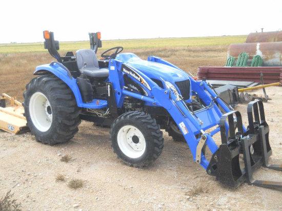 New Holland Tc40a Tractor W 16la Loader Forklift Forks Bucket
