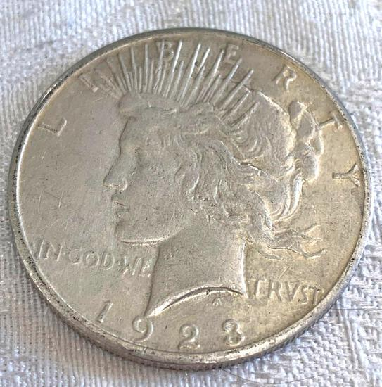 Peace silver dollar 1923S