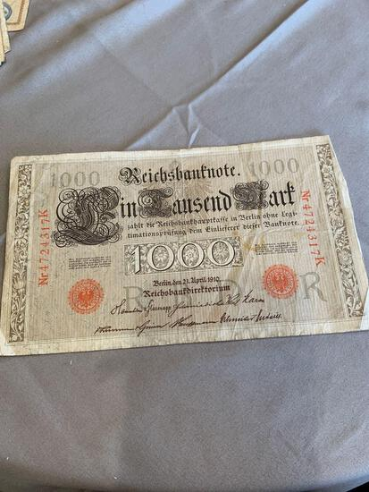 German 1000 mark 1910
