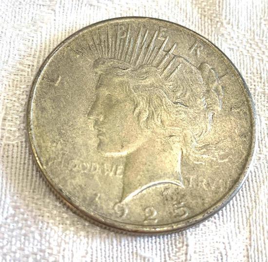 Peace silver dollar 1925