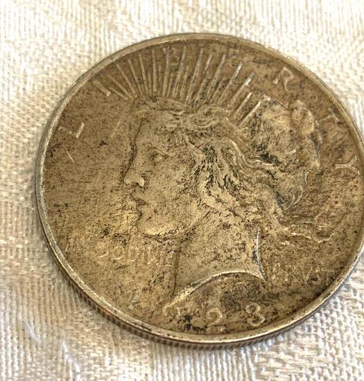 Peace silver dollar 1923
