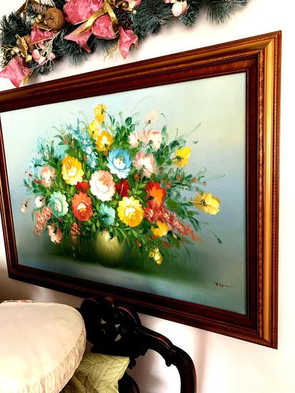 Large canvas flower picture
