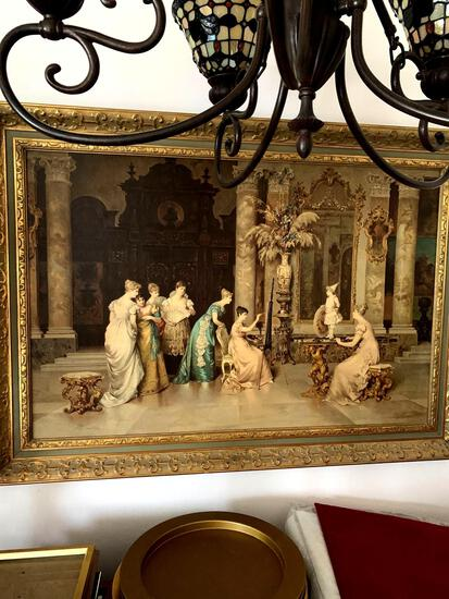 Large framed art picture