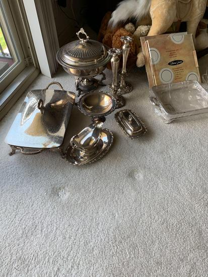 Silverplate serving dishes