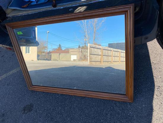 48? x 30? wood framed mirror