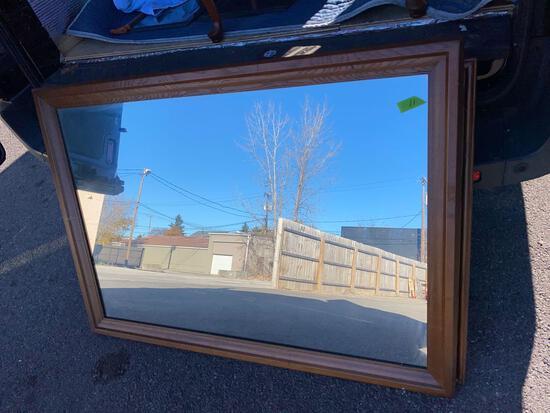 48? x 35? wood framed mirror
