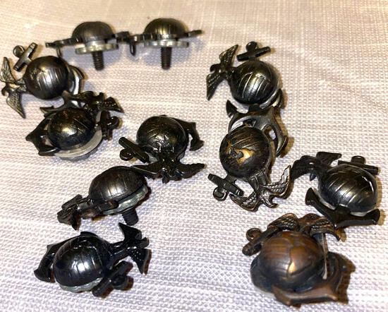 Lot of 11 marine screw back pins