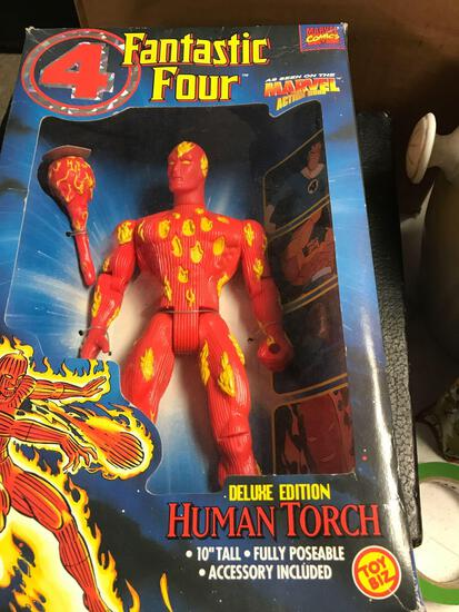 Toy biz 4 fantastic four human torch 12 inch action figure