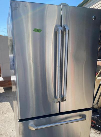 GE refrigerator freezer drawer on the bottom