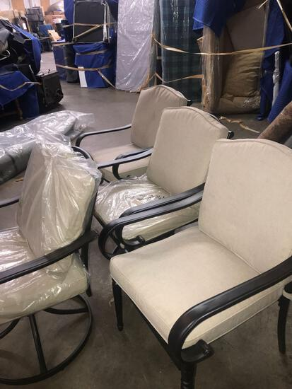 4-Metal deck chairs