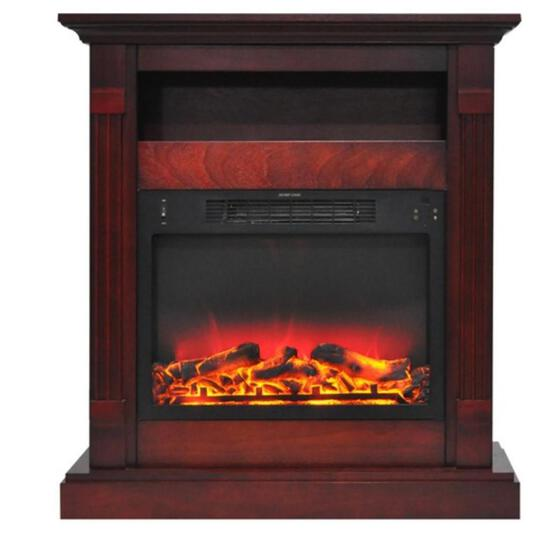 Cambridge Sienna fireplace manual with logs and grate insert