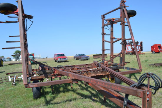 MF 33' Chisel Plow, Sweeps, Mdl 1128, May have Points by Sale Day, Harrows Sold Separate