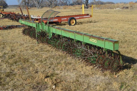JD 400 Rotary Hoe, 20', 3 Pt.