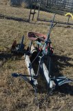 Red & Blue Ride-On Horse Drawn Cultivator
