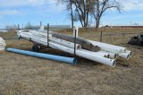 Pipe Trailer and 9 jts PVC Pipe