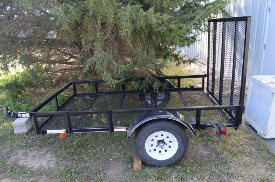 Carry-On 8' x 5' Two Wheel Trailer w/ Ramp, like new