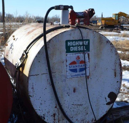 500 gal. fuel tank