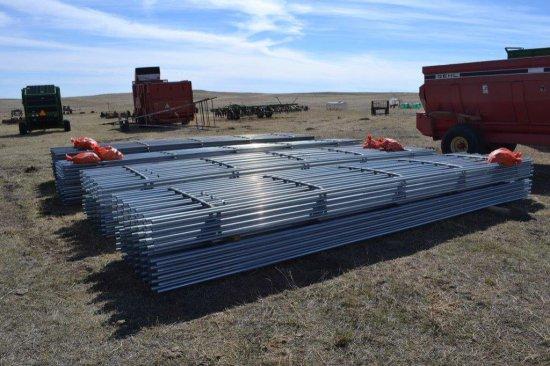Galvanized Cont. Fence Panels, 6 bar x 20ft