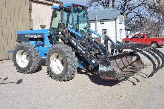 1998 Ford Versatile 9030 Tractor, w/ 7414 Loader, Bi-Directional,