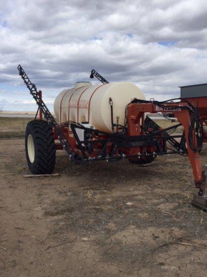 Dempster Row Tracker Pull Type Sprayer