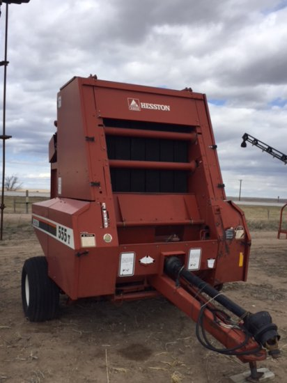 Hesston 555T Round Baler w/monitor, good condition, Serial#10113