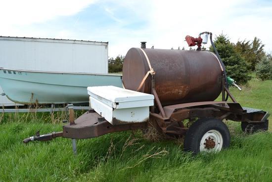 300 gal. fuel wagon, 12V 20 GPM Pump, BP