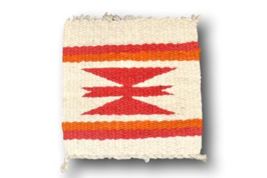 8.5 x 8.5 Miniature Navajo Rug