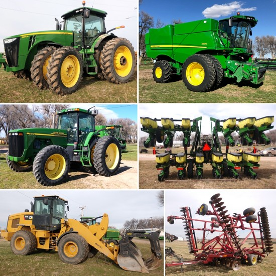 NEW DATE! May 22! Late Model Farm Equipment!